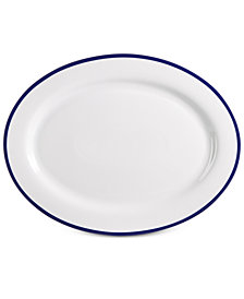 Martha Stewart Collection Blue Rim Platter, Created for Macy's