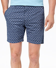 "Con.Struct Men's Stretch Navy Knot-Print 7"" Shorts, Created for Macy's"