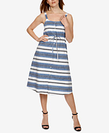 Lucky Brand Cotton Striped Shirtdress