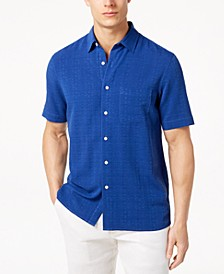 Men's Textured Silk Blend Shirt, Created for Macy's