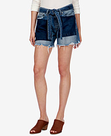 Lucky Brand Ripped Two-Tone Denim Shorts