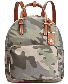 Tommy Hilfiger Julia Medium Camo Double Handle Backpack