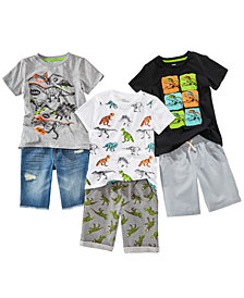 Epic Threads Dino Graphic-Print T-Shirts & Shorts Separates, Little Boys, Created for Macy's