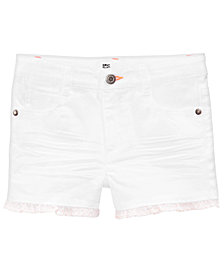 Epic Threads Ruffle Denim Shorts, Little Girls, Created for Macy's