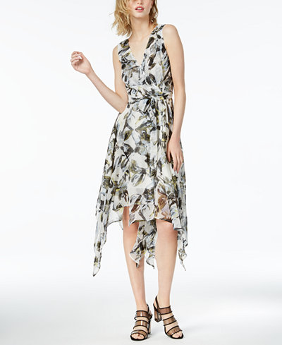 Bar III Printed Asymmetrical Dress, Created for Macy's