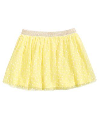 Flocked Dot-Print Skirt, Toddler Girls, Created for Macy's