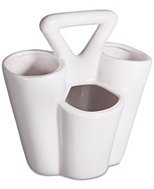 Home Essentials 4-Section White Utensil Caddy