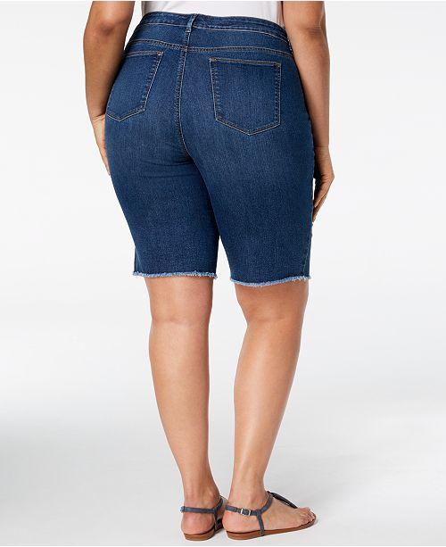 Cove for Style Bermuda Macy's amp; Cabot Denim Size Shorts Plus Co Frayed Hem Created vwOA4rvxq