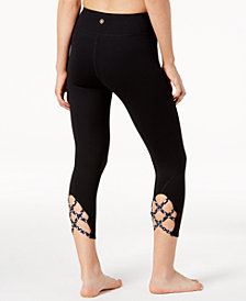 Gaiam Stella Strappy Capri Leggings