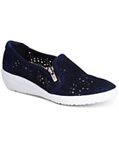 3ba8f4195e63 Anne Klein Sport Yvette Perforated Slip-On Sneakers