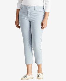 Lauren Ralph Lauren Plus Size Premier Straight Crop Jeans