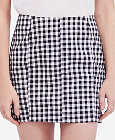Free People Modern Femme Gingham Skirt