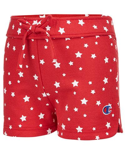 Champion Star-Print Shorts, Little Girls