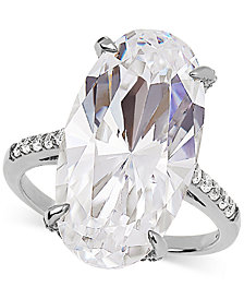 Arabella Swarovski Zirconia Statement Ring in Sterling Silver