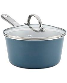 Porcelain Enamel 3-Qt. Non-Stick Saucepan & Lid