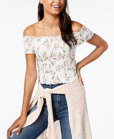 Polly & Esther Juniors' Smocked Off-The-Shoulder Top