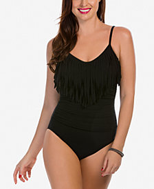 Magicsuit Blair Fringed Ruched One-Piece Swimsuit