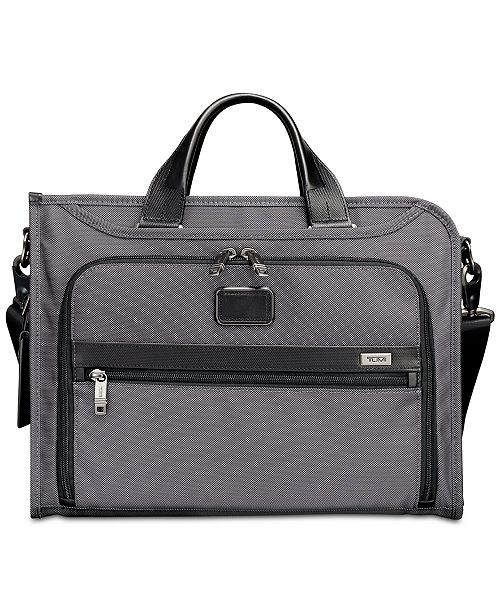 Tumi Men's Alpha Slim Deluxe Portfolio Briefcase