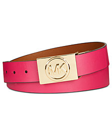 MICHAEL Michael Kors Logo-Plaque Reversible Belt