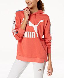 Puma T7 Printed-Sleeve Logo Hoodie