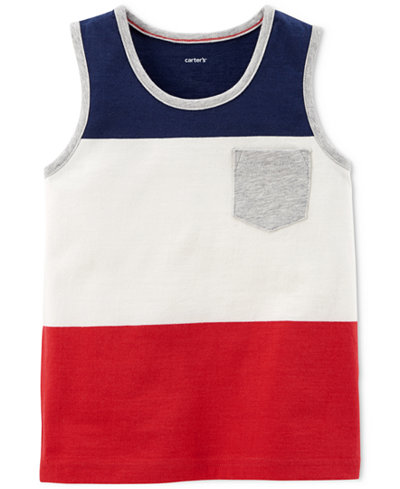 Carter's Striped Cotton Tank Top, Little Boys