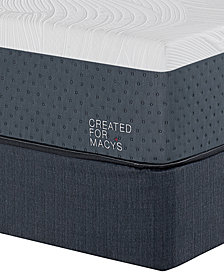 "MacyBed Lux Greenbriar 12"" Firm Memory Foam Mattress Set - California King, Created for Macy's"