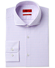 Hugo Boss Men's Slim-Fit Pink Check Dress Shirt