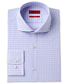 HUGO Men's Slim-Fit Purple Check Dress Shirt