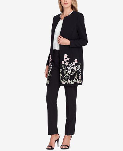 Tahari ASL Embroidered Topper Jacket, Regular & Petite