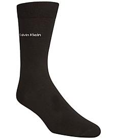 Men's Giza Cotton Flat Knit Crew Socks