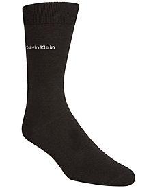 Calvin Klein Men's Giza Cotton Flat Knit Crew Socks