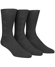Men's Socks, Rayon Dress Men's Socks 3 Pack