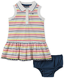 Tommy Hilfiger Striped Collared Dress, Baby Girls