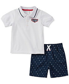 Tommy Hilfiger 2-Pc. Polo & Shorts Set, Baby Boys
