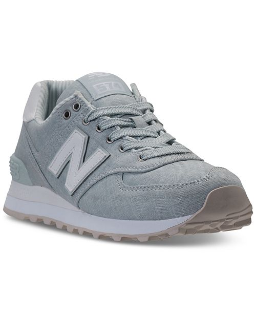 cec2afb79828e New Balance Women's 574 Beach Chambray Casual Sneakers from Finish ...