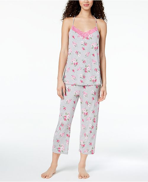 Macy's Rose Cabbage Created Thalia Racerback Knit Set Sodi Lace Pajama for wwvaRq