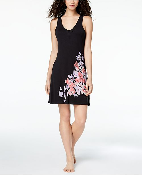 Floral Chemise Classic Black Graphic Alfani for Macy's Created Placement UwRnq5t