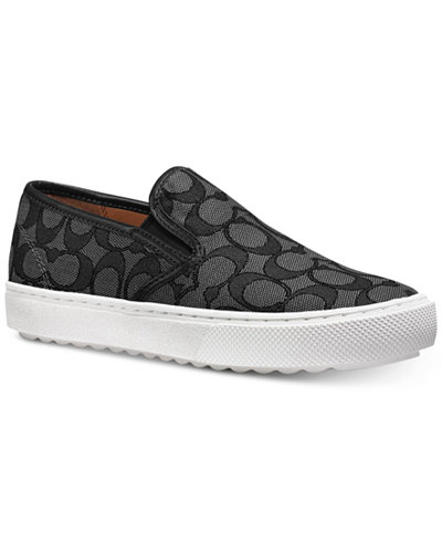 COACH Signature Slip-On Sneakers