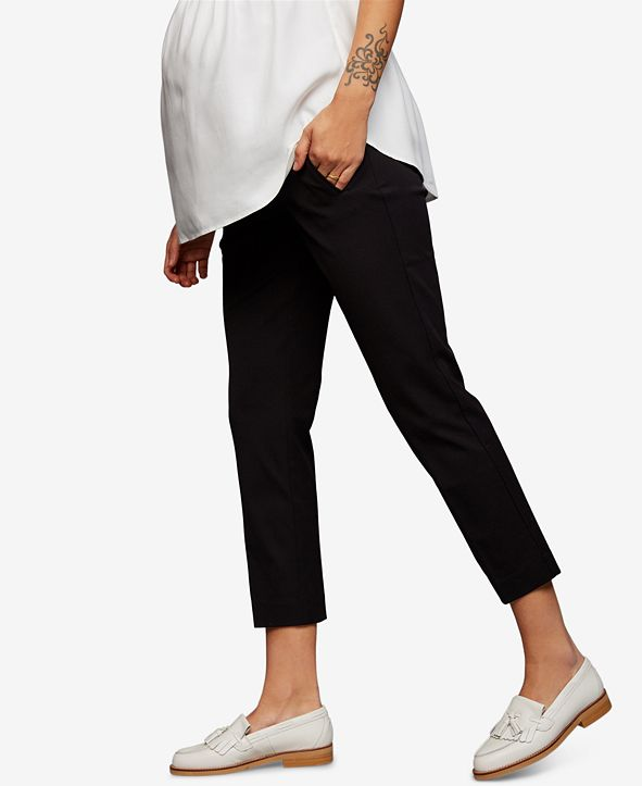 A Pea in the Pod Motherhood Maternity The Curie Secret Fit Belly Twill Slim Ankle Pant