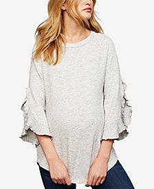 Ella Moss Maternity Split-Sleeve Sweatshirt