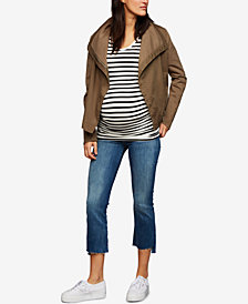 A Pea In The Pod Maternity Draped Twill Jacket