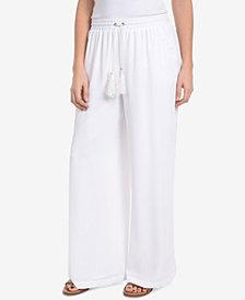NY Collection Chiffon-Overlay Pants