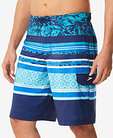 "Speedo Men's Assemble Stripe  21"" E-Board Shorts"