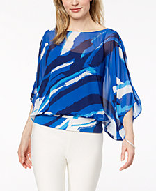 Alfani Printed Chiffon Top, Created for Macy's