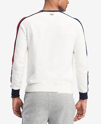 Tommy Hilfiger Mens Richard Colorblocked Raglan Sleeve Sweater