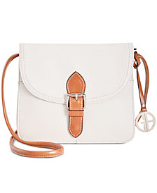 Giani Bernini Leather Conflap Crossbody, Created for Macy's