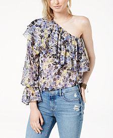 Lucky Brand One-Shoulder Flounce Top