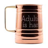 Thirstystone Adulting Is Hard Copper-Plated Mug Deals