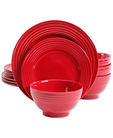 Gibson Plaza Café Red 12-Pc. Dinnerware Set, Service for 4