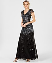 2ac79f27f07f3 Adrianna Papell Cap-Sleeve Embellished Gown